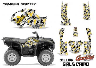 Girls-Camo Yellow