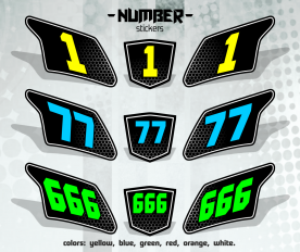 Набор наклеек с номерами